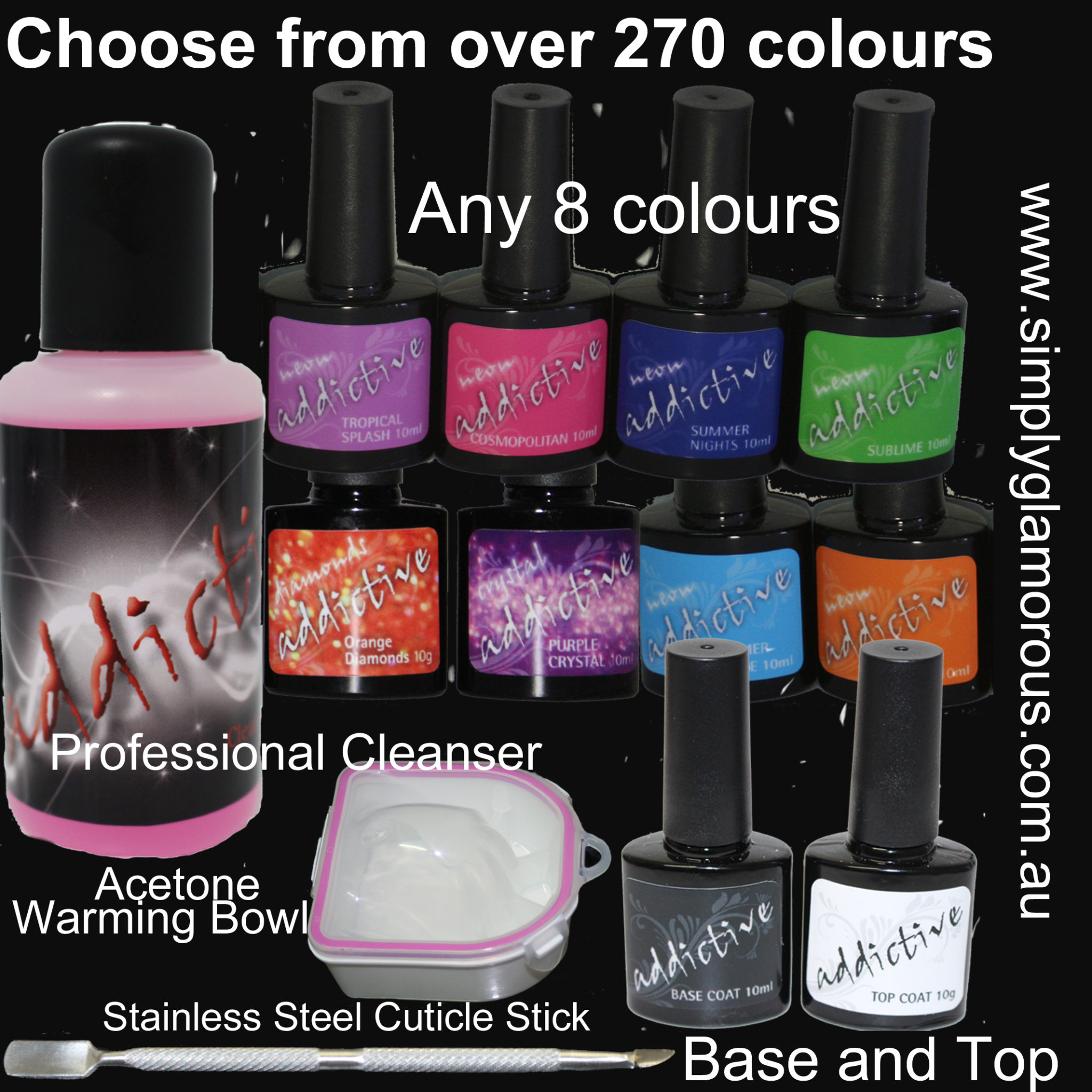 Uv Gel Nail Polish Starter Kit: 10 Bottle Addictive UV LED Gel Nail Polish Starter Kit