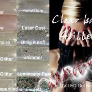 Comparison pics - Clear + Glitter